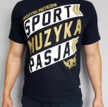 """T-shirt DM """"Motto"""" złoty/czarny"""