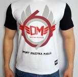 """T-shirt DM """"RING"""" biały/czarny"""