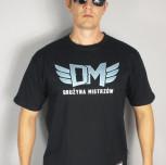 """T-shirt DM """"TCM"""" czarny/niebieski"""