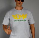 "T-shirt DM ""TCM"" szary/żółty"
