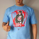 """T-shirt JP """"FDC"""" niebieski"""