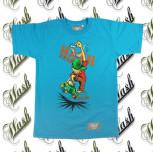 T-shirt SKATER turkusowy